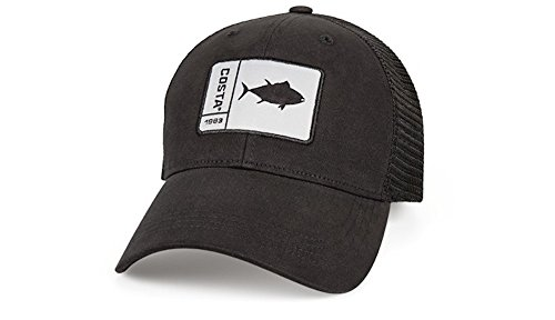 (Costa Del Mar Original Patch Tuna Trucker Hat - Black/Black - One Size fits All)