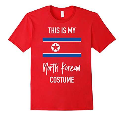 North Korea Halloween Costume (Mens This is my North Korean Costume T-Shirt - Fun Halloween Tee Medium Red)