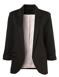 CFD Women's Fashion Folding Sleeve Stand Colar Office Blazer