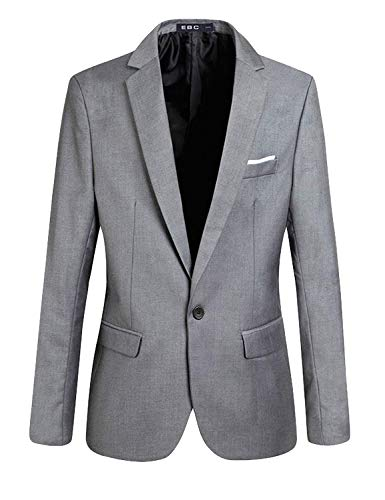 Sposa Moderna Infermiera Un Da Haidean Casual Lunghe Slim Bottone Smoking Fit Blazer Grau Giacca Elegante Abito Maniche Uomo A 8ZpZOq