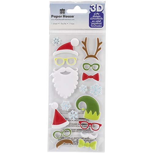 Paper House Productions STP-0031E Christmas Costumes Puffy Stickers (Puffy Costumes)