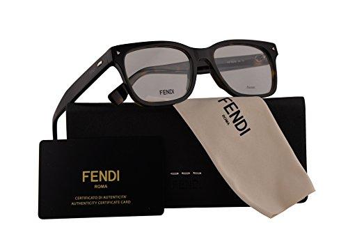 Fendi FF0218 Eyeglasses 52-18-145 Dark Havana w/Demo Clear Lens 086 FF - Spectacle Carbon Fibre Frames