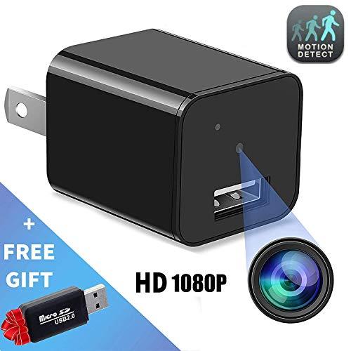 Hidden Camera – Mini Spy Camera – Motion Detection – USB Charger Camera – Hidden Spy Cam – Hidden Nanny Cam – Home Surveillance Security Camera Full HD 1080P – No Wi-Fi Needed
