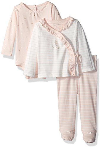 (Nautica Baby Girls' Take Me Home Set, Light Pink, 6 Months)