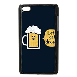 iPod Touch 4 Case Black Drinking Buddy poyw