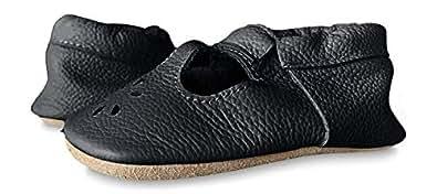 Lucky Love Baby & Toddler Soft Sole Prewalker Skid Resistant Boys & Girls Shoes Black Size: 4M US