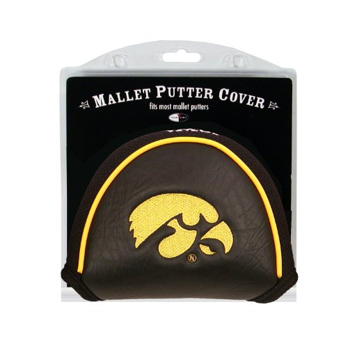 Team Golf NCAA Iowa Hawkeyes Golf Club Mallet Putter Headcover, Fits Most Mallet Putters, Scotty Cameron, Daddy Long Legs, Taylormade, Odyssey, Titleist, Ping, Callaway