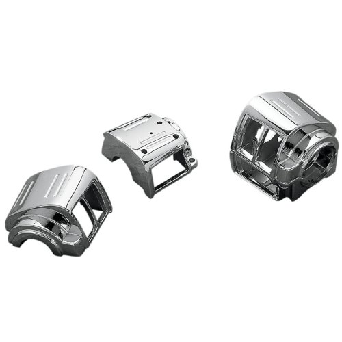 Switch Cycle Country Handlebar (Hill Country Customs Chrome Handlebar Switch Housings for 1982-1995 Harley-Davidson Dyna Softail and Sportster models - HC-SH95C)