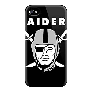 Premium Tpy7366LGZS Cases With Scratch-resistant/ Oakland Raiders Diy For Iphone 4/4s Case Cover