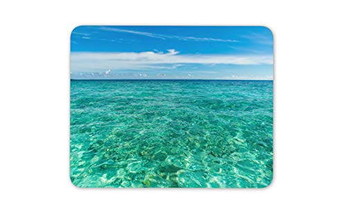 Clear Blue Ocean View Mouse Mat Pad - Holiday Coral Tropics Computer Gift - Tropics Gift