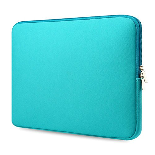 YOUNGFLY Laptop Case Bag Soft Cover Sleeve Pouch for 12''13''15.6'' Macbook Pro Notebook 13 inch Green