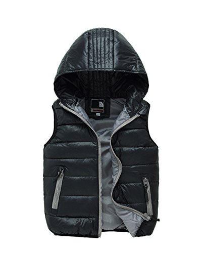 Lemonkids;® Winter Vest Kids Jacket Chic Black Wadded Lightweight Hooded Children rTRqwr