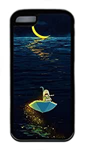 Custom Soft Black TPU Protective Case Cover for iPhone 5C,Moon Ship Case Shell for iPhone 5C by mcsharks