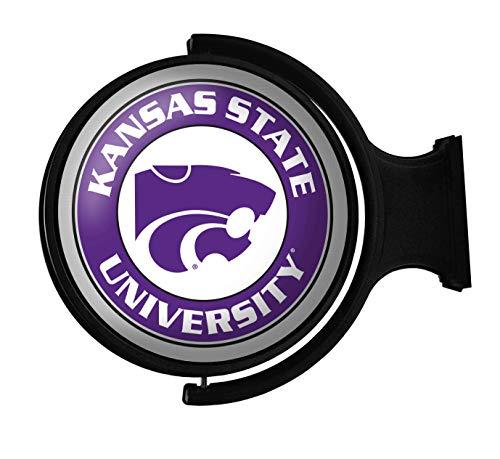 Shop Grimm KSU Wildcats Rotating Illuminated Wall Sign Featuring K-State's Powercat Logo 2 (Round) -