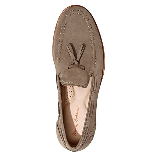 Tommy Bahama Hombres Filip Leather Tassel Loafer Gris Oscuro