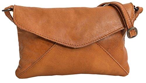 Handtasche Gusti Leder studio Karisma Damentasche Partytasche Frauen Ledertasche Rindsleder Retro Cognac 2H83-48-5
