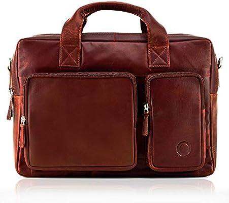 Herrenhandtasche Laptoptasche 14 Zoll Leder Umhängetasche Bussinesstasche