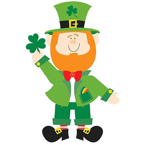 Amscan 190230 St. Patrick's Day Leprechaun Jointed Paper Cutout, One Size, Green]()