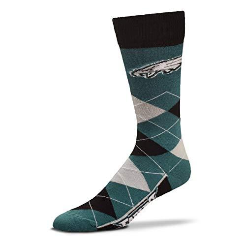 (For Bare Feet - NFL Argyle Lineup Men's Crew Socks - One Size Fits Most (Philadelphia Eagles))