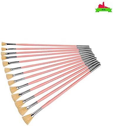 12のプロのオイルとアクリルアーティストブラシ長毛塗装ハンドル無料キャリングケース