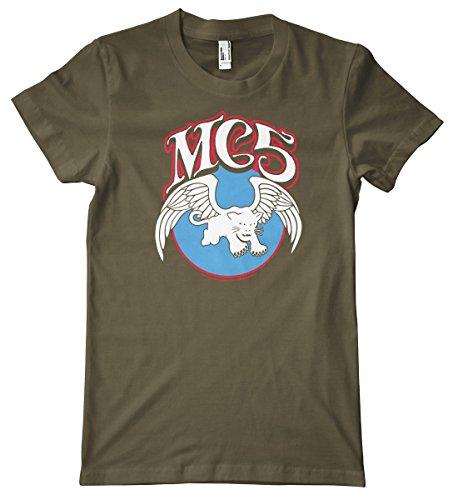 Mc5 Panther - MC5 Panther Logo Premium T-Shirt, Army, X-Large