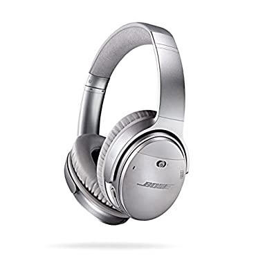 Bose QuietComfort 35 Wireless Noise Cancelling Headphones, Silver