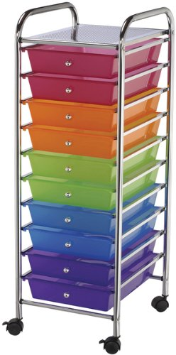 Storage Cart with 10 Drawers - Multicolor 1 pcs sku# 633585MA by Blue Hills Studio