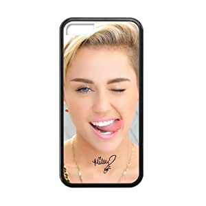 Miley Cyrus Hot Pop Singer Star DIY Custom Rubber Back Case Cover for iPhone 5C