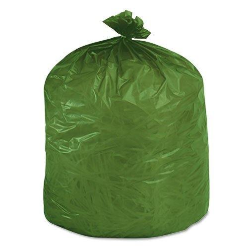 Stout G3340E11 Eco-Degradable Plastic Trash Garbage Bag 33gal 1.1mil 33 x 40 Green 40/Box