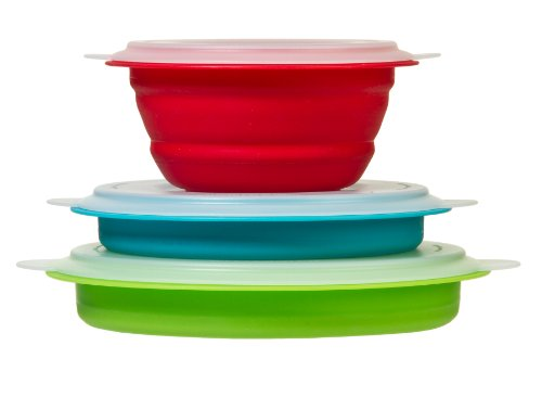 Prepworks by Progressive Collapsible Prep/Storage Bowls with Lids - Set of 3