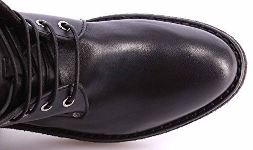 Zapatos Mujer Botines MOMA Ankle Boots 72503-TA Hannover Nero Negro Vintage IT