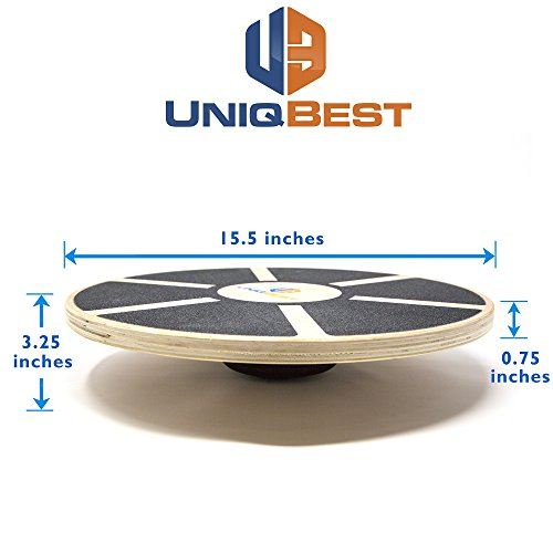UNIQBEST Wooden Wobble Balance Board Platform For Physical Therapy Training Exercise Equipment Stability Balancing Trainer for Men Women