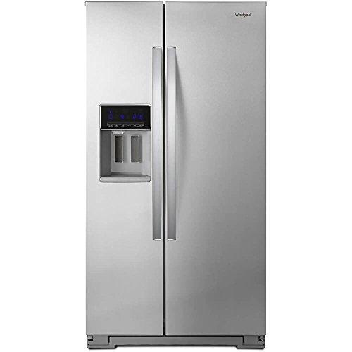 Adjustable Door Bins Interior Lighting - Whirlpool WRS571CIHZ 21 Cu. Ft. Stainless Counter Depth Side-by-Side Refrigerator