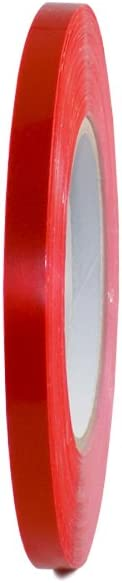 T.R.U. UPVC-24BS Red Poly Bag Sealing Tape: 1/2 in. x 180 yds. (Pack of 1)