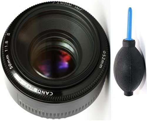 Canon 50mm 1.8 II Lens Deluxe Lens Blower Brush