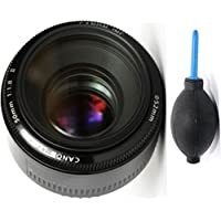 Canon 50mm 1.4 Portrait Lens + Deluxe Lens Blower Brush