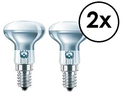 2 x Lava Lamp SES E14 R39 Reflector 30W Spotlight Screw in Spot Light Bulbs