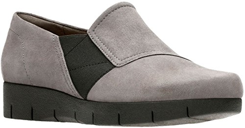 Clarks Womens Daelyn Monarch Slip On Dark Grey
