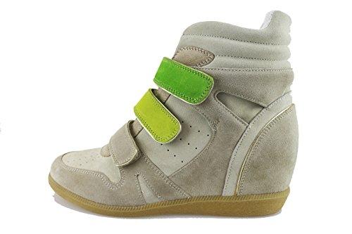 CULT sneakers zeppe donna beige camoscio AH864