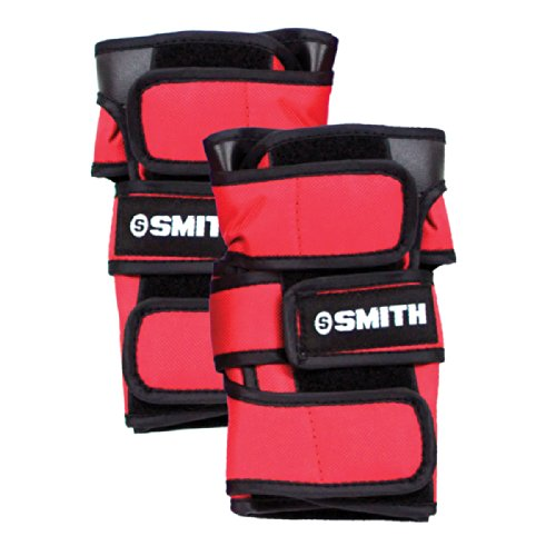 Red Wrist Guards - Smith Safety Gear Scabs Wrist Guards, Red, Medium