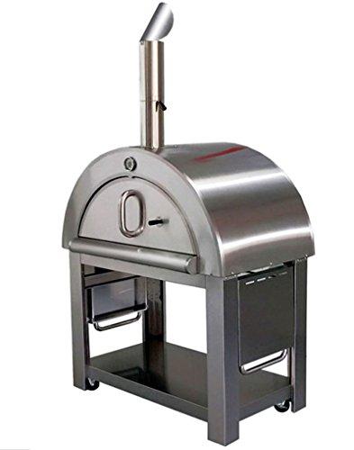 "44"" Wood Fired Outdoor Stainless Steel Artisan Pizza Oven for Outdoor or Indoor"