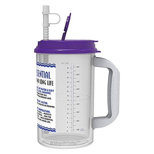 32 Oz W.E. Insulated Cold Drink Hospital Mug with Purple, used for sale  Delivered anywhere in USA