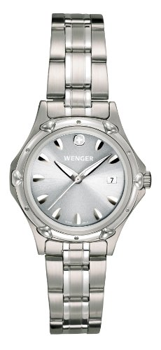 Wenger Women's 70237 Standard Issue Grey Sunray Dial Steel Bracelet Watch