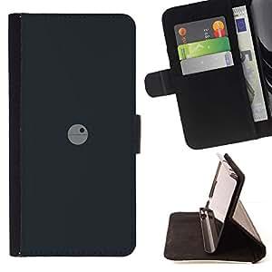 Momo Phone Case / Flip Funda de Cuero Case Cover - Deathstar Mínimo - Huawei Ascend P8 (Not for P8 Lite)
