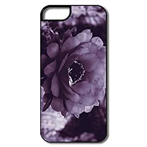 IPhone 5S Case, Purple Cactus Blossom White/black Covers For IPhone 5S