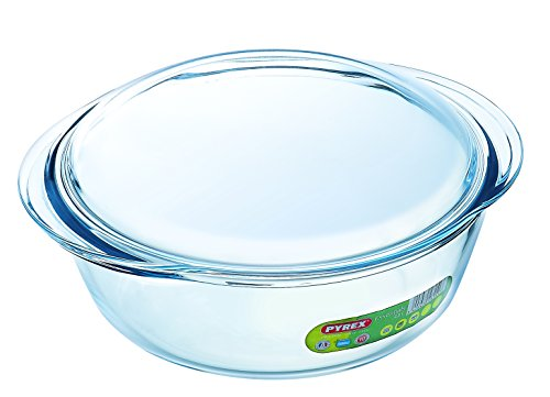 Pyrex 2.3 Litre Round Borosilicate Glass Casserole