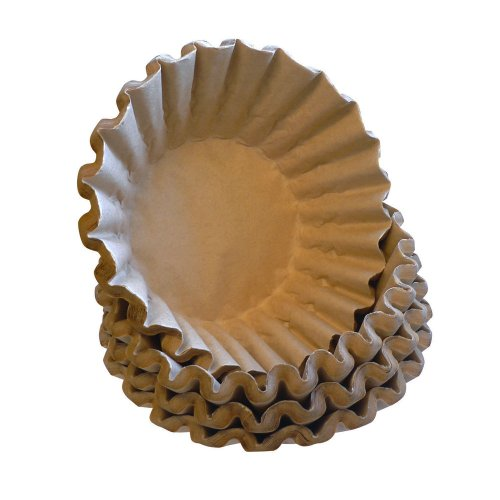 Quantum Positive - Unbleached Coffee Filters, 100 - Biodegradable, Natural Brown Filters - Cone Size 4 or Large Basket 12 Cup