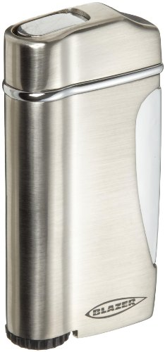 Blazer Stratus Butane Refillable  Torch Lighter, Silver Silver Butane Torch Lighter