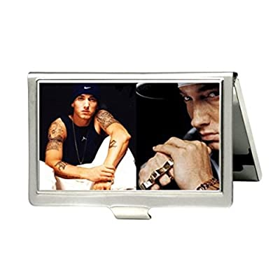 Eminem Custom Fashion Metal Stainless Steel Pocket Business Name Credit ID Card Case Box Holder