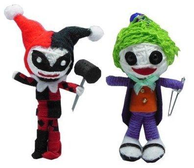 String Doll World - Harley Quinn & The Joker - String Doll Keychain]()